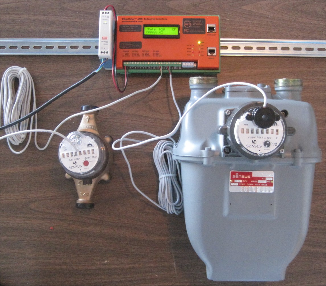 metering technology scadametrics gas water flow meter monitoring modbus and rockwell industrial communication protocols