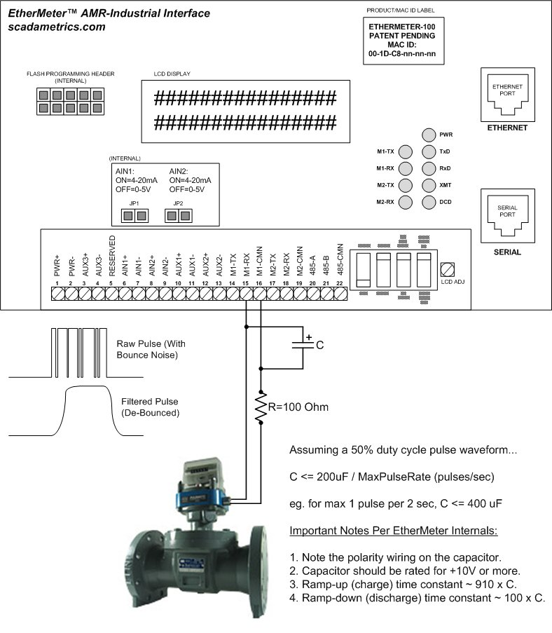 Debounce_Schematic_01 scadametrics connecting water, gas, & other flow meters to scada Form 16s Meter Socket Diagram at alyssarenee.co