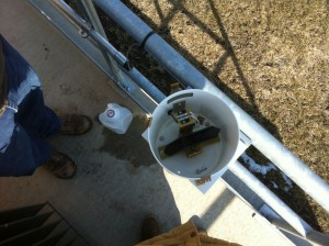 Internal View Of the RG600 8 Inch Tipping Bucket Rain Gauge.