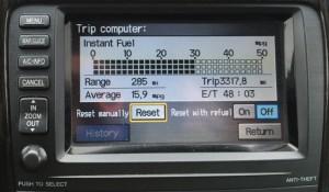 Automobile Dashboard Display: Realtime MPG