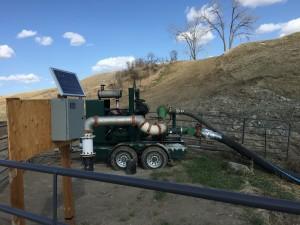 Lake Pump, Meter, and Preferred Controls AMR Unit.
