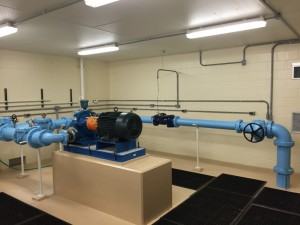 Triplex Pumping Station - Jersey County Rural Water District (IL). Three (3) 60 HP Pumps and One (1) Sensus 6 Inch Omni-T2 Flow Meter.